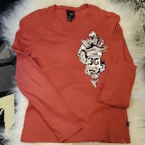 Just Cavalli, long sleeve v neck shirt, small